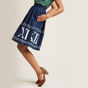 NWOT Roman Numerals Skirt
